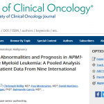 ALLG's NBCR featured in new Acute Myeloid Leukaemia study